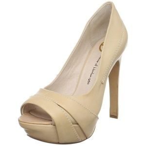 House of Harlow Nell Cappuccino open toe heels